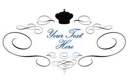Logotipo real elegante ilustração royalty free