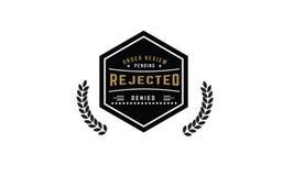 Logotipo rechazado del icono Fotos de archivo libres de regalías
