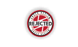 Logotipo rechazado del icono Foto de archivo