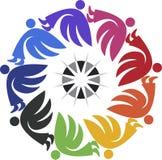 Logotipo redondo del ángel Imagenes de archivo