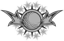 Logotipo redondo oscuro Imagen de archivo libre de regalías