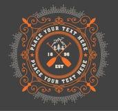 Logotipo retro con el elemento de la explosión Imagenes de archivo