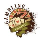 Logotipo retro del casino en un fondo blanco Foto de archivo