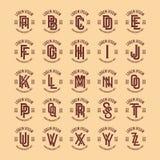 Logotipo retro do alfabeto do vetor livre ilustração do vetor