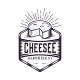 Logotipo retro do queijo ilustração royalty free