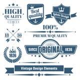 Logotipo retro do vetor do vintage para a bandeira Foto de Stock