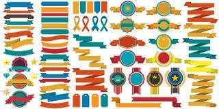 Logotipo retro do vetor do vintage para a bandeira Imagens de Stock Royalty Free