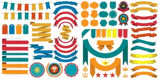 Logotipo retro do vetor do vintage para a bandeira Fotos de Stock Royalty Free