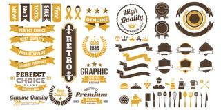 Logotipo retro do vetor do vintage para a bandeira Foto de Stock Royalty Free