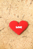 Logotipo rojo del corazón y del amor de la tela Foto de archivo libre de regalías