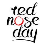 Logotipo rojo del día de la nariz Foto de archivo libre de regalías