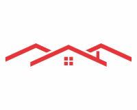 Logotipo rojo del tejado foto de archivo libre de regalías