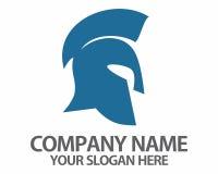 Logotipo romano del casco del gladiador Imágenes de archivo libres de regalías