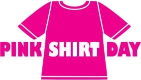 Logotipo rosado del día de la camisa
