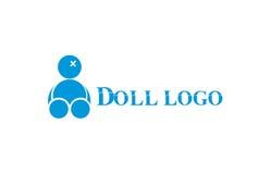 Logotipo roto vudú de la muñeca Fotografía de archivo
