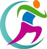 Logotipo Running ilustração stock