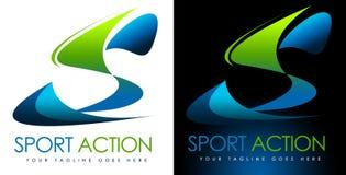 Logotipo S del deporte Imagen de archivo libre de regalías