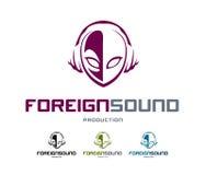 Logotipo sadio estrangeiro ilustração stock