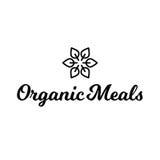 Logotipo sano de la comida orgánica de las comidas de la hoja de la flor Imagen de archivo