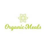Logotipo sano de la comida orgánica de las comidas de la hoja de la flor Fotos de archivo libres de regalías
