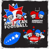 Logotipo Set_1 do futebol americano Imagens de Stock Royalty Free