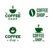 Logotipo simple de la cafetería, símbolo, icono, plantilla de la etiqueta stock de ilustración