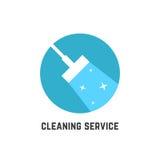 Logotipo simple del servicio de la limpieza Fotografía de archivo libre de regalías