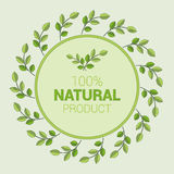 Logotipo simple para el tema de la ecología Fotos de archivo