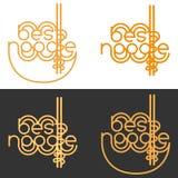 Logotipo, sinal para o café do macarronete, barra, fast food, restaurante, massa, produtores dos macarronetes Imagem de Stock