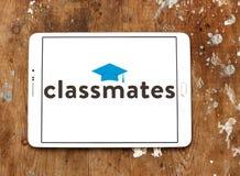 Logotipo social del servicio del establecimiento de una red de los compañeros de clase foto de archivo libre de regalías