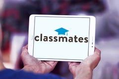 Logotipo social del servicio del establecimiento de una red de los compañeros de clase imagen de archivo libre de regalías