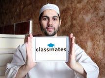 Logotipo social del servicio del establecimiento de una red de los compañeros de clase imágenes de archivo libres de regalías