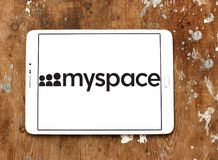 Logotipo social do Web site dos trabalhos em rede de Myspace Foto de Stock