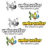 Logotipo subaquático Fotografia de Stock Royalty Free