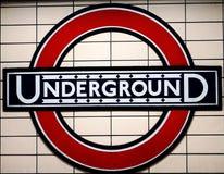 Logotipo subterrâneo em Londres Imagem de Stock