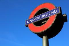 Logotipo subterrâneo em Londres Fotografia de Stock