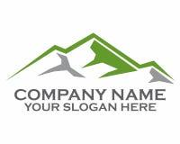 Logotipo superior de la montaña Imagenes de archivo