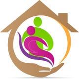 Logotipo superior do cuidado ilustração stock