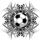 Logotipo tribal do vetor da esfera de futebol Foto de Stock