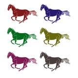 Logotipo - un caballo galopante Imagen de archivo libre de regalías