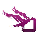 Logotipo valiente de Hawk Initial O de la púrpura del vector foto de archivo libre de regalías