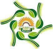 Logotipo vegetariano de la comida de la naturaleza libre illustration
