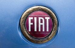 Logotipo velho de Fiat Fotografia de Stock Royalty Free