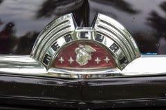 Logotipo velho do carro 1951 de Ford Mercury Coupe imagem de stock