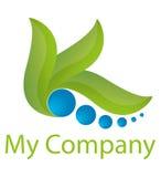 Logotipo - verde Fotografia de Stock Royalty Free