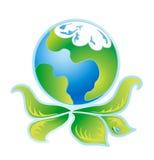Logotipo verde 3 da ecologia Ilustração Stock