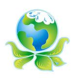 Logotipo verde 3 da ecologia Fotografia de Stock