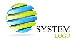 Logotipo verde & azul Imagens de Stock