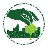 Logotipo verde da árvore ilustração do vetor