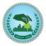 Logotipo verde da árvore ilustração royalty free